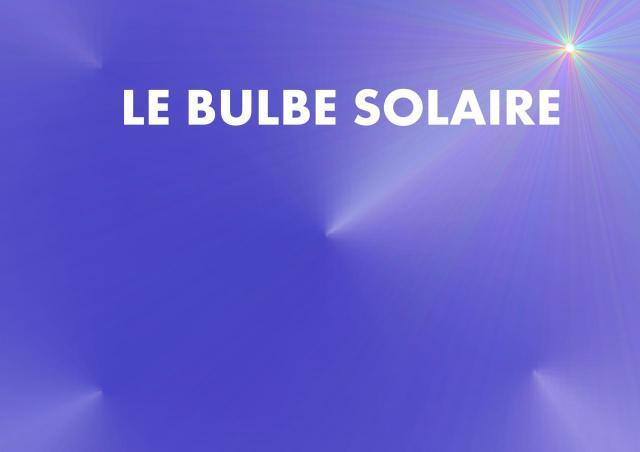 plaquette PAGE TITRE BULBE SOLAIRE